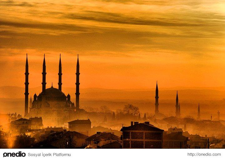 Selimiye Mosque and city view of Edirne